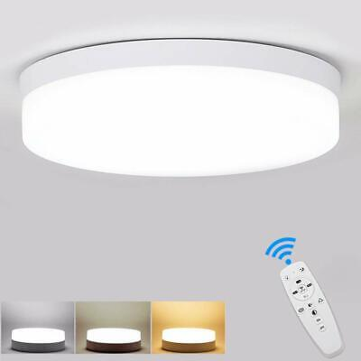 Dimmable LED Ceiling Light With Remote Control Surface Mount Bathroom Closet