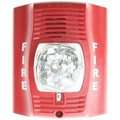 Horn Strobe Wall 2-wire Std Candela Red Fire Alarm
