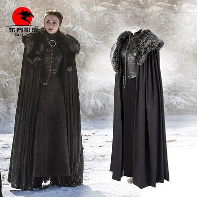 DFYM Game of Thrones8 Costume Sansa Stark Cosplay Customize Suit Halloween Party - Customized Costumes