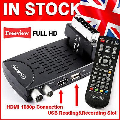 Freeview HD Receiver Digital TV Tuner Set Top Box Converter 1080p Media Player