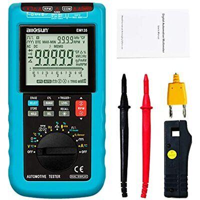 Automotive Digital Multimeter 5 Ranging Dmm Rpm Diagnosis Tester Em135