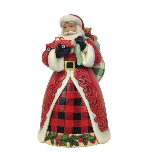 Jim Shore Country Living SANTA HOLDING RED TRUCK - A COUNTRY CHRISTMAS 6009123