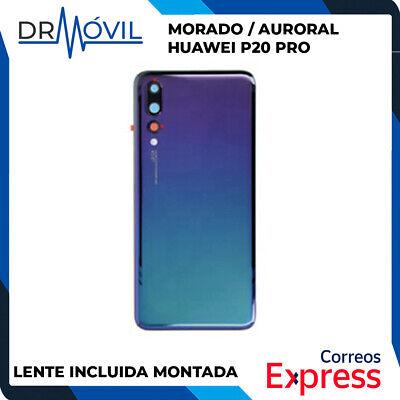 Tapa trasera Huawei P20 PRO Cristal Morado / Aurora, incluye Adhesivo, sin...