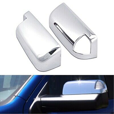For 2009-18 Dodge Ram 1500 Top Half Chrome Towing Mirror Covers With Turn