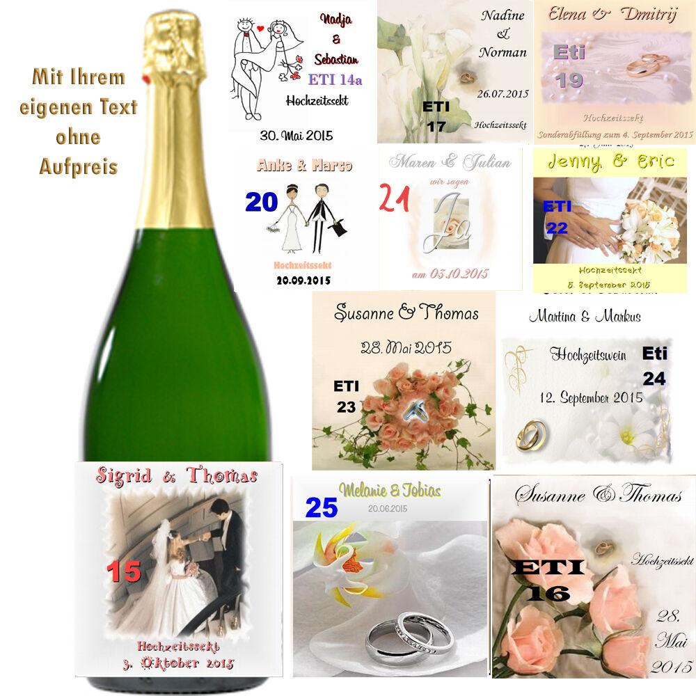 Individuell personalisierte Flaschen-Etiketten zur Hochzeit ...