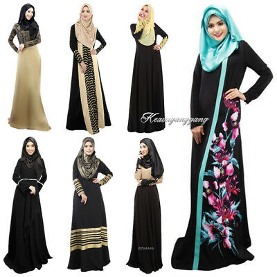 Muslim Dubai Women Formal Kaftan Cocktail Jilbab Abaya Islamic Maxi Long Dress