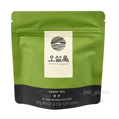 Osulloc Sejak 100% Organic Korean Jeju Green Tea 40g + Free Tracking Number