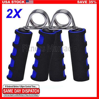 2X Exercise Foam Hand Grippers Forearm Grip Strengthener Grips Exerciser Blue