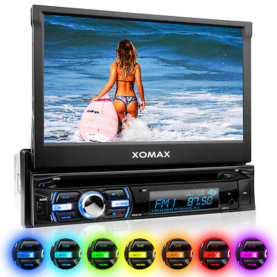 CAR STEREO RADIO SYSTEM WITH BLUETOOTH VIDEO TOUCH-SCREEN DVD CD USB SD AUX 1DIN