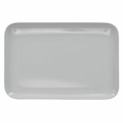 Serving Tray Display Tray Low Profile Black Melamine Plastic- 13 1/4 L x 9 1/8 W - Melamine Display Tray