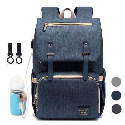 Bags For Nurses (Diaper Bag Backpack for Mom USB Maternity Baby Nappy Nursing Handbags Diaper)
