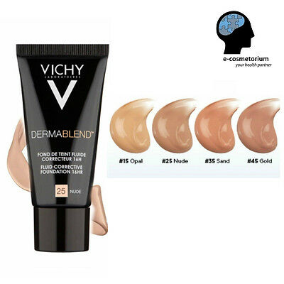 Vichy Dermablend Corrective Fluid Foundation 1 fl.oz. (30ml) / Foundation Brush