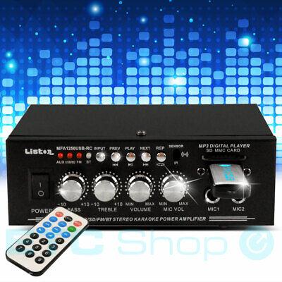 50Watt Karaoke Stereo Verstärker MP3 Bluetooth Party Anlage USB SD Fernbedienung