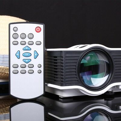 4K 1200 Lumens 1080P 3D Mini Projector Home Theater LED Multimedia HDMI VGA US