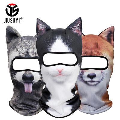Premium 3D Animal Ears Balaclavas Cycling Ski Halloween Cat Dog Full Face Mask (Halloween Dog Face)