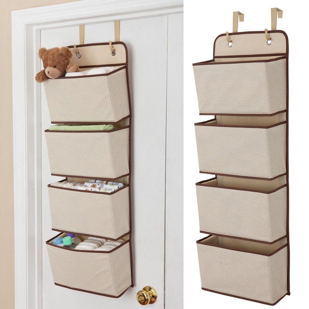 Mesh Over Door Storage Organizer Hanging Closet Shelf Bag Shelves Toys Children Closet Organizers