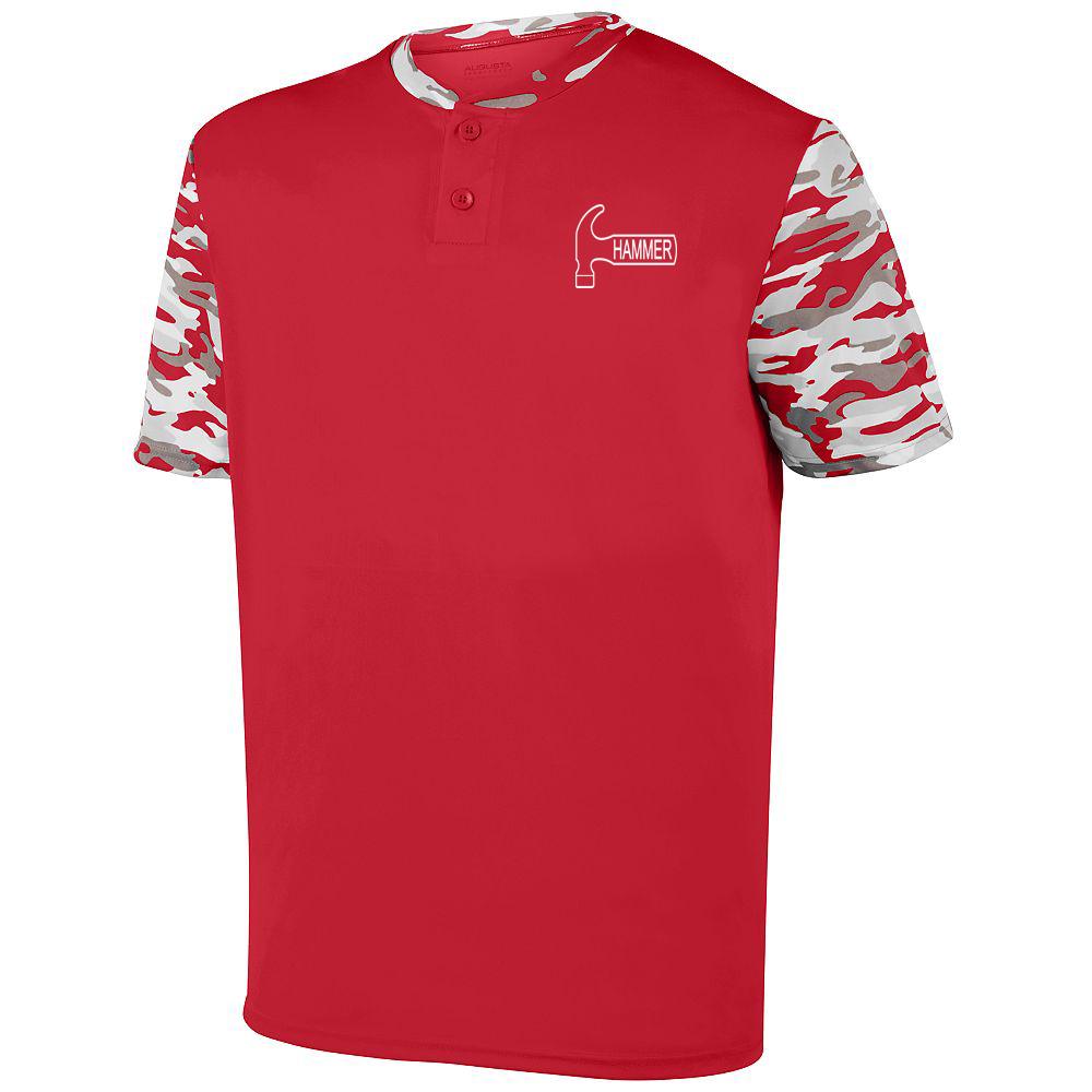 Hammer Men's Epidemic Performance Crew Bowling Shirt Dri-fit Red