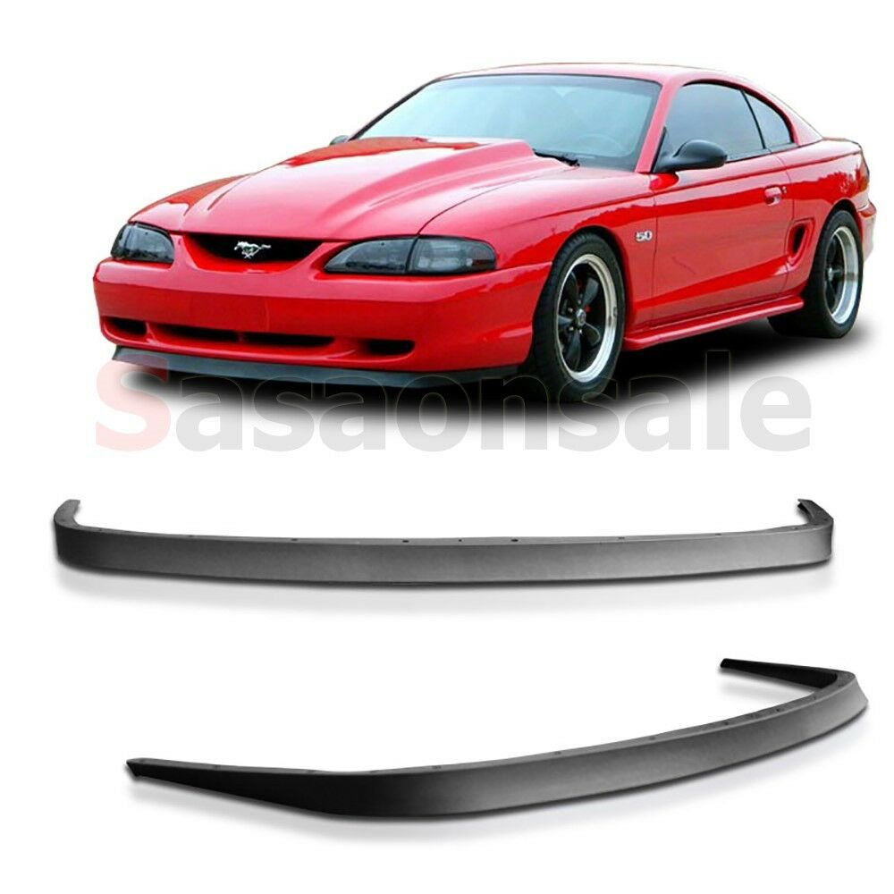 Details about 94 95 96 97 98 ford mustang gt style front chin spoiler bumper lip both v8 v6
