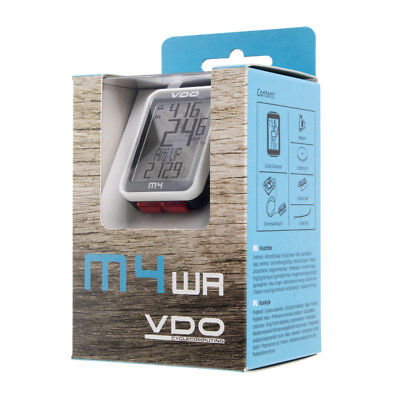 New VDO M4 WR Wired Bike Cycle Computer Bicycle Speedometer