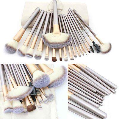 18PCS Pro Makeup Brush Set Cosmetic Foundation Powder Brushes Kit + Pouch Case