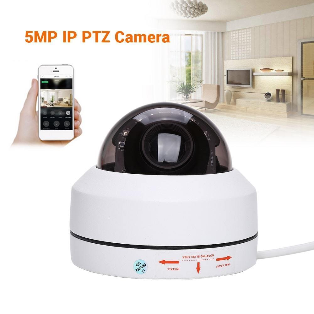5MP HD 1080P POE IP PTZ Camera Onvif Network 4X Zoom IR Night Vision IP67 H.265