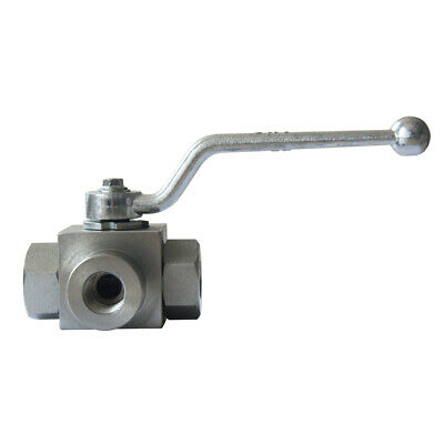 Hydraulic Ball Valve 3 Way 12 Npt 7250 Psi Carbon Steel