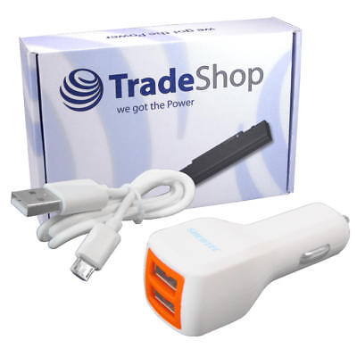 2-fach USB Kfz-Adapter Auto Ladegerät f. Motorola Moto C LTE Plus E4 Plus G5 G5s (Motorola Iphone 5 Auto-ladegerät)