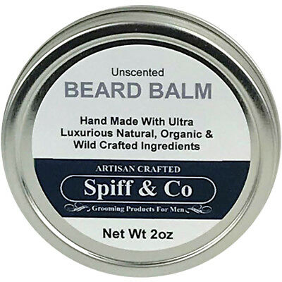 Hand Crafted Beard Balm Unscented Best Beard Balm 2oz By Spiff And