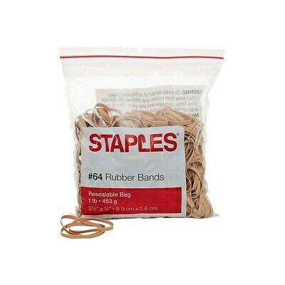 Staples Economy Rubber Bands Size 64 1 Lb. 808659