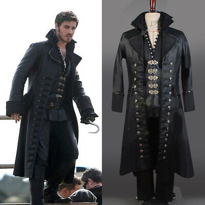 Hook Once Upon A Time Costume (Once Upon A Time Captain Hook Killian Jones Outfit Cosplay Costume Attire)