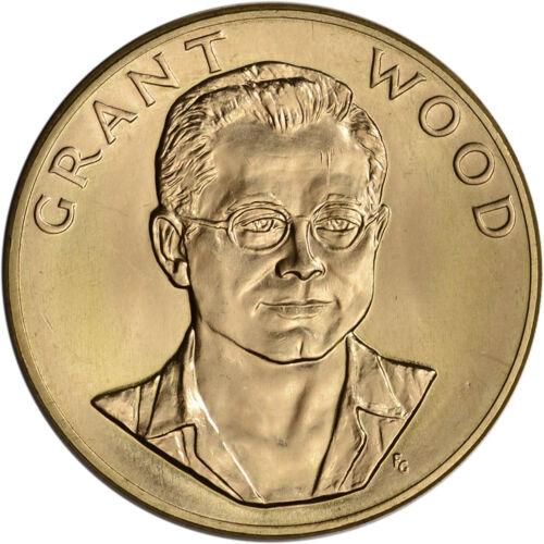 1980 US Gold (1 oz) American Commemorative Arts Medal - Grant Wood - BU