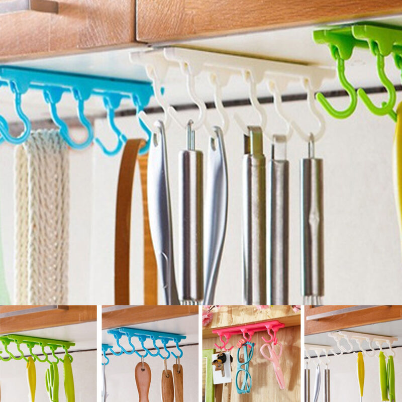 Kitchen Cabinets That Hang From The Ceiling: Hanging Rod Storage Holder Ceiling Walls Cabinet Kitchen