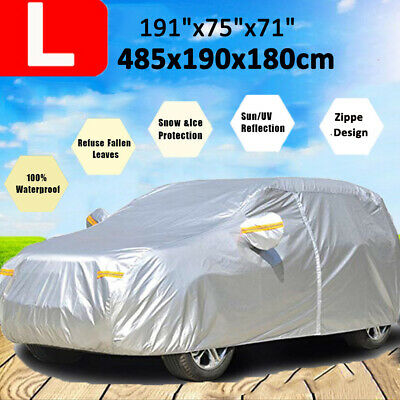 - 190T SUV Car Cover Waterproof Outdoor Breathable Rain Dust Resistant Protection