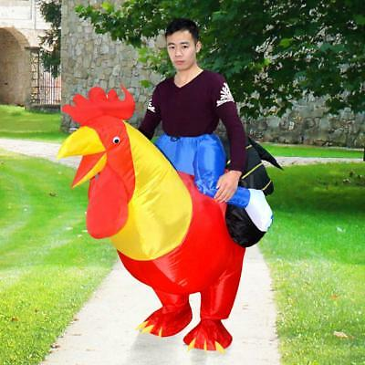 Funny Rooster Inflatable Costumes Blow Up Costume Cosplay Halloween Party T8H6](Funny Blow Up Halloween Costumes)