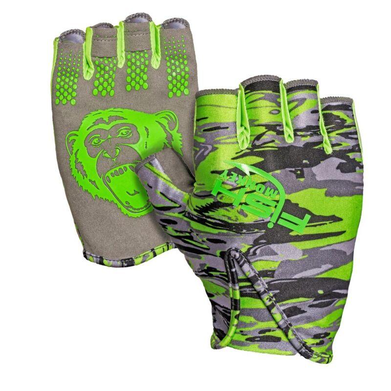 Fish Monkey FM18 Stubby Guide Gloves Half-Finger Fishing Gloves w/ UPF 50+
