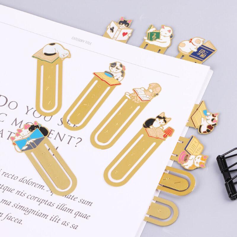 Animal Cartoon Metal Paper Clip Ruler Office School SupplyStationery For 0cn