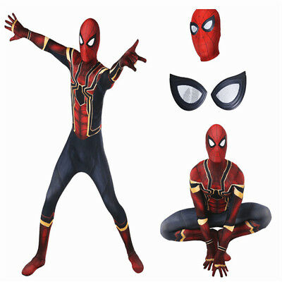 Spider-Man Homecoming Iron Spiderman Suit Superhero Costume Halloween Cosplay