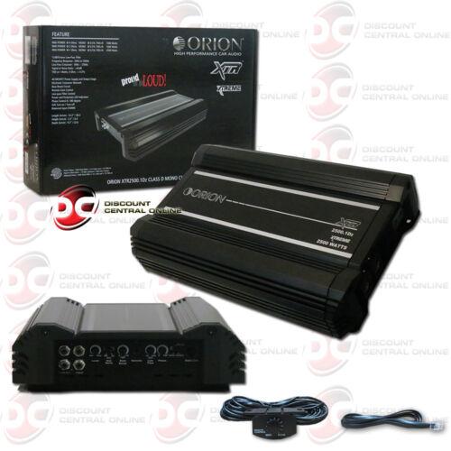 ORION XTR2500.1Dz XTR 1-CHANNEL MONO BLOCK CLASS D CAR AMP AMPLIFIER 2500W RMS