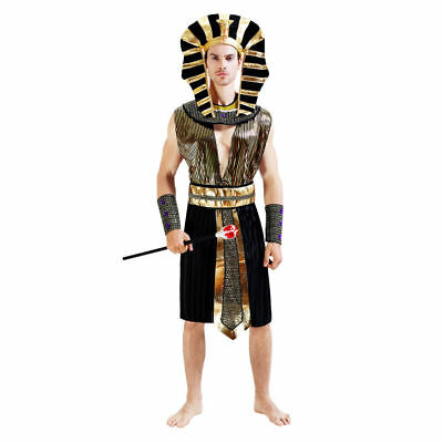 Men's Egyptian Pharaoh Dress Up Costume Cosplay Halloween Party - S Dress Up Party Kostüm