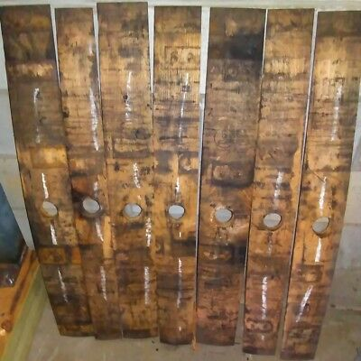 Authentic Jack Daniels White Oak Whiskey Barrel Stave With Bung Hole
