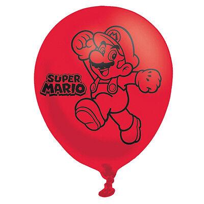 6 X Super Mario Luftballons Kinder-Geburtstagsparty Dekorationen ()