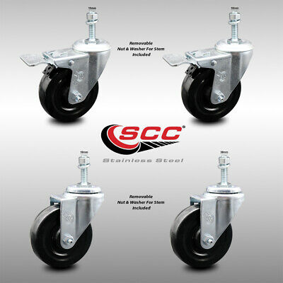 SS Series Stainless Steel Casters 3 The Fairbanks Company SS-13-3-TPR 4.5 Height 3 Length 150 lb 3 Width 3 3 Length 4.5 Height 3 Width Rigid Thermoplastic Load Capacity