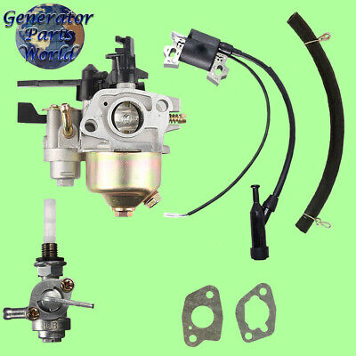 Apache Carburetor W Shutoff Left Petcock Coil For Agpw2700 2700 Pressure Washer
