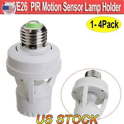 Motion Sensor Light Lamp Socket Adapter Infrared Sensor Dimmable Bulb Adapter -
