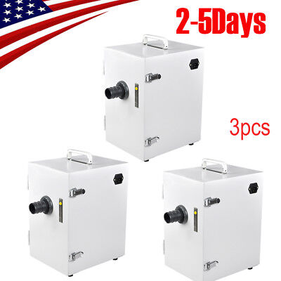 3pcs Pro Dental Single-row Dust Collector Vacuum Cleaner Lab Equipment Fda