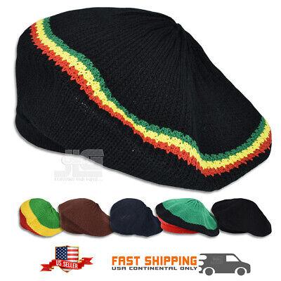 Rasta Hat Roots Dread Tam Reggae Crown Marley Reggae Dubwise Jamaica M/L Fit