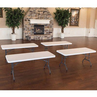 Lifetime 6' Utility Table 4-pack, Almond (Beige), Indoor/Outdoor - Pack Lifetime 6' Almond