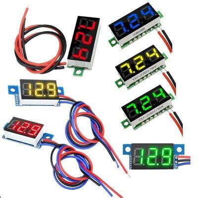 0.280.36inch Led Display 23wire Mini Dc 0-99.9v Panel Voltmeter Voltage Meter