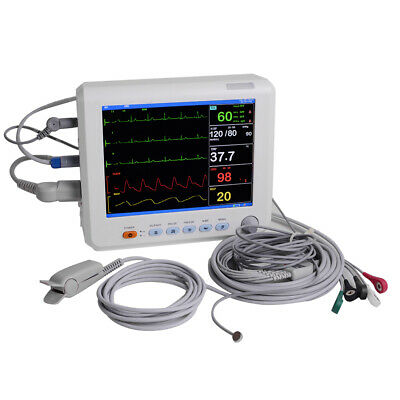 Portable 6 Paras Vital Signs Patient Monitor Spo2prnibpecgresptemp Cardiac