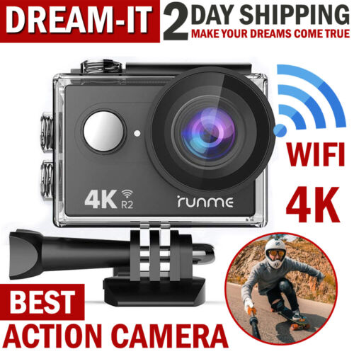Pro Action Camera 4K WiFi Camcorder Waterproof DV Sports Cam Go Underwater KIT